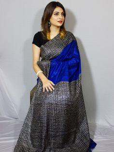 Pure Ghicha Silk Saree @ www.essenceofindia.com