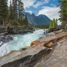 Waterfall Kootenay National Park British Columbia Canada
