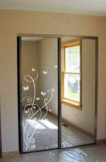 Idea Updating Mirrored Closet Doors With Decals Trading Phrases