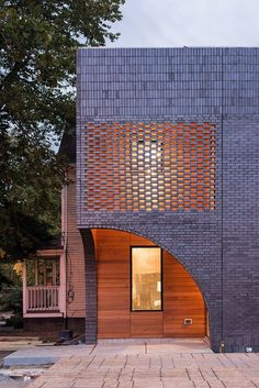 10 new examples of brick and stone in architecture HS Residence in Cleveland OH by Horton Harper Architects Photo Christian Phillips Archinect Brick Design, Facade Design, Exterior Design, House Design, Brick Architecture, Architecture Details, Interior Architecture, Architecture Apps, Computer Architecture