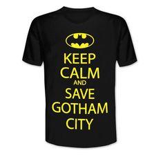 Batman T-Shirt Keep Calm and Save Gotham City. Hier bei www.closeup.de
