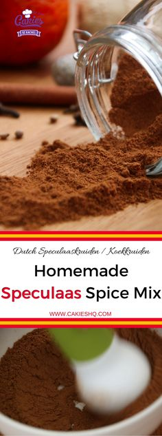Speculaas Spice Mix is often used in Dutch cuisine. Speculaas is also known as Spekulatius, Speculoos and Spekolaus. An aromatic blend of spices. Dutch Recipes, Baking Recipes, Cookie Recipes, Dessert Recipes, Desserts, Belgian Recipes, Amish Recipes, Rib Recipes, Crack Crackers