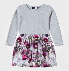 Autumn Winter 2016 Girls Printing Flower Dresses For Kids Long-sleeved Clothes Vestido Menina Children Clothes