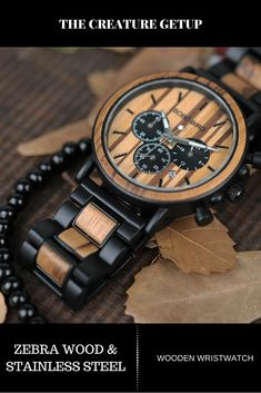 100% Natural sustainable wood. Vegan free and Eco-friendly design and materials. Wooden watches made the right way, hypoallergenic, with no harsh chemical sealers or properties. Get yours now at thecreaturegetup.com