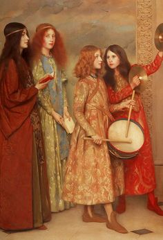 Thomas COOPER GOTCH A Pageant of Childhood (Detail) 1895