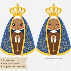 Our Lady of Aparecida clipart Virgen clip art virgencita Doodles Bonitos, Clip Art, Holy Mary, Cute Doodles, Catholic Art, Super Happy, Kawaii Art, Photo Craft, Cute Illustration