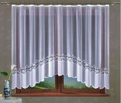 Firana gotowa Allegrina 2 rozmiar 300 x 160 cm Kitchen Curtains, Valance Curtains, Curtain Divider, Modern Window Treatments, Blinds, Windows, Interior, Design, Home Decor