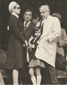 Princess Grace and Prince Rainier with their daughter, Princess Stéphanie.