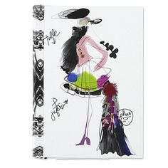 CHRISTIAN LACROIX  Fashion sketch notebook