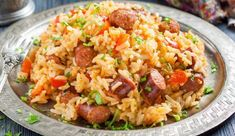 Cajun Chicken and Sausage Jambalaya : Recipes : Cooking Channel Recipe . Cooking Channel serves up this Cajun Chicken and Sausage Jambalaya recipe plus many Rice Recipes, Mexican Food Recipes, Chicken Recipes, Dinner Recipes, Cooking Recipes, Healthy Recipes, Healthy Rice, Chicken And Sausage Jambalaya, Vegetables