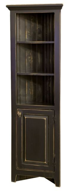 this is the style cabinet I would like for the corner. I would finish it in distresses blue with wooden oak color beadboard in the back cabinet ideas living room decor Small Amish Corner Hutch Cabinet in Pine Wood Do It Yourself Furniture, Simple Furniture, Amish Furniture, Primitive Furniture, Country Furniture, Home Furniture, Garden Furniture, Cabinet Furniture, Luxury Furniture