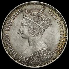 Coin for sale - 1859 Queen Victoria Gothic Florin Silver Coins, 925 Silver, Old British Coins, Coins For Sale, World Coins, Queen Victoria, Drawing Reference, Tarot, Gothic