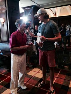 Danny DeKeyser with the great Ted Lindsey.