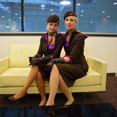Etihad Airways stewardess crewfie