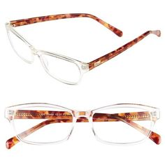 I Line Eyewear 'Emma' 58mm Reading Glasses ($58) ❤ liked on Polyvore featuring accessories, eyewear, eyeglasses, emma pink, lens glasses, reading eye glasses, reading glasses, i line glasses and acetate glasses