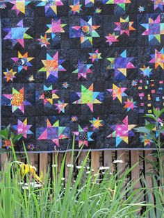 Reach for the stars - wonky star quilt