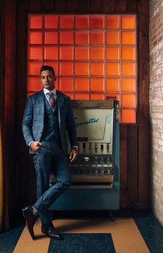 Three piece plaid custom suit by Daniel George Fashion Suits, Men's Fashion, Blind Barber, Custom Tailored Suits, Bespoke Clothing, Professional Look, Fine Men, Man Style, Blazer Suit