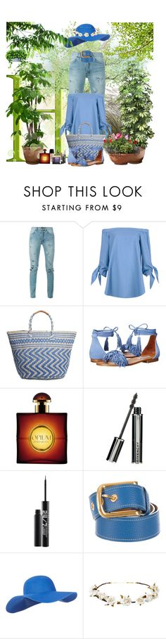 """""""Me and My Garden"""" by winscotthk ❤ liked on Polyvore featuring Yves Saint Laurent, TIBI, Lucky Brand, Steve Madden, Givenchy, Guerlain, Urban Decay, Prada, Accessorize and Cult Gaia"""