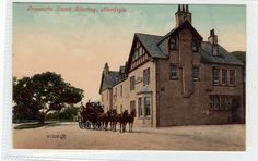 TROSSACHS COACH STARTING, ABERFOYLE: Perthshire postcard (C29984) | eBay