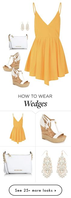 """."" by erfrances on Polyvore featuring MICHAEL Michael Kors, Glamorous, Michael Kors, Accessorize, women's clothing, women, female, woman, misses and juniors"