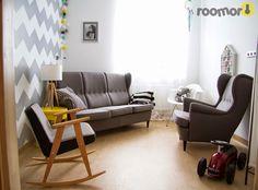 roomor! 366 Concept, Chierowski, chevron, living, roomor project, cotton ball lights, #Fundacjagajusz,