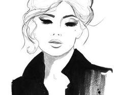 Illustration de mode aquarelle Dior et par JessicaIllustration Plus