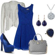 Cobalt Blue, created by mariah-karm.polyvore.com