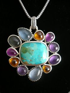 SUPER SALE Striking Colorful Sterling Silver VIntage by glamrox, $59.00