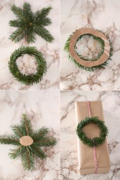 Gift wrapping ideas for Christmas flora-inspiro. - Gift wrapping ideas for Christmas flora-inspiro.blo… You are in the right place about DIY decorati - Christmas Crafts For Gifts, Noel Christmas, Christmas Gift Wrapping, Simple Christmas, Winter Christmas, Craft Gifts, Christmas Decorations, Danish Christmas, Christmas Presents