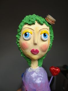 Hope - Paper mache doll