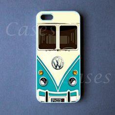 Amazon.com: Iphone 5 Case, Teal VW Minibus Iphone 5 Cover
