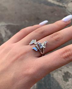 Silver Rings, Jewelry, Butterfly Ring, Jewlery, Jewerly, Schmuck, Jewels, Jewelery, Fine Jewelry