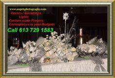 Flower Centerpieces, Budget Wedding, Flower Making, Ottawa, Budgeting, Christmas Tree, Lights, Table Decorations, Weddings