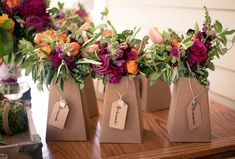Kraft blumeboxes to display gorgeous bridal bouquets from True Florette and photographed by Todd France Photography Read more - http://www.stylemepretty.com/2013/08/15/hudson-valley-wedding-from-todd-france-photography-true-florette/