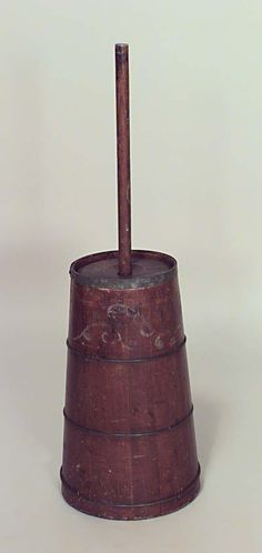 American Country accessories butter churn pine