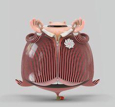 High End-Prints by Mark Gmehling, via Behance Creative Illustration, Graphic Design Illustration, Digital Illustration, Character Design Animation, 3d Character, Pop Art, Behance, Illustrations, Cute Characters