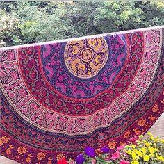 Indian Mandala Round Tapestry Wall Hanging Bohemian Beach Throw Towel Yoga Mat Bedspread Table Cloth DIY Art Home Decor 150cm