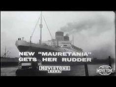 Mauretania  Gets her Rudder
