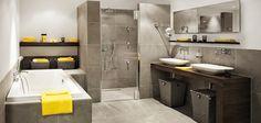 Badkamer met regendouche en luxe badmeubel: Brugman Keukens