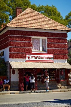 red paprika house in Tihany, Lake Balaton, Hungary Storefront Signage, Hunky Dory, Heart Of Europe, Danube River, Beautiful Places In The World, Central Europe, Travelogue, Homeland, Places Ive Been