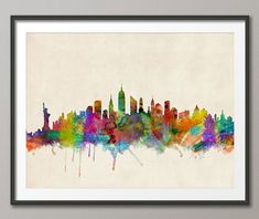Skyline de Nueva York Nueva York paisaje urbano Art por artPause