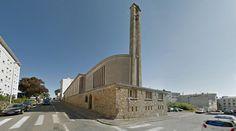 Chapelle de Kerveguen - 1958 by Philippe Bévérina - #architecture #googlestreetview #googlemaps #googlestreet #france #brest #brutalism #modernism