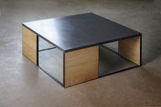 Table basse bois béton design