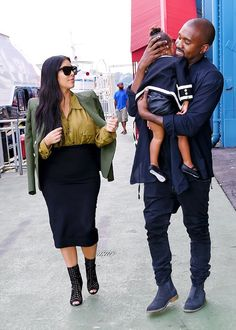 Kim, Kanye & North out in Soho, NYC - July 4, 2015