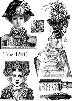 Paper Artsy by Lynne Perrella - Lovely Hats Collages, Collage Art, Free Collage, Paper Dolls, Art Dolls, Steampunk Images, Stencils, Weird Gifts, Art Journal Techniques