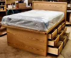 full size bed frame with drawers extraordinary full size platform bed with storage 11 plans free - Full Size Bed Frame With Storage