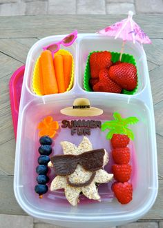 Bentoriffic summer fun bento sunshine vegan plant based lunchbox in @EasyLunchboxes