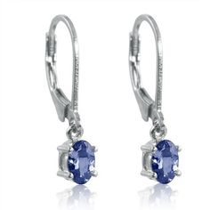 Genuine Tanzanite Lever-Back Earrings in Sterling Silver Amanda Rose Collection. $49.95. Sterling Silver Lever-backs. Genuine 6 x 4mm Tanzanite stones.. Please see image number 2 for earring lenght. All of our diamond suppliers and MLG state that to the best or their/our knowledge that all of our diamonds are conflict free.. Earrings measure just over 3/4 inch, top to bottom. Save 50% Off!