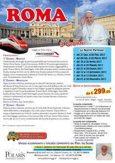 ROMA 3 giorni con udienza Papale viaggi in Frecciarossa  SCOPRI LE DATE in agenzia Polaris Viaggi 0175.348424 - 0175.257396 www.polarisviaggi.it