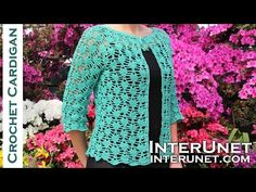 How to crochet a women's square motif lace blouse. for more details and written step-by-step instructions. Crochet a seamless sweater using a simple three rounds motif pattern. Video tutorial includes step-by-step instructions and row-by-row Crochet Cardigan Pattern, Crochet Shirt, Crochet Jacket, Lace Cardigan, Knit Crochet, Easy Crochet, Crochet Motif, Crochet Triangle, Crochet Socks